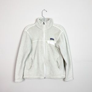 Patagonia | fleece zip up jacket white medium
